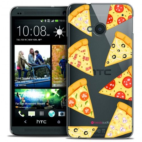 Carcasa Crystal Extra Fina HTC One (M7) Foodie Pizza