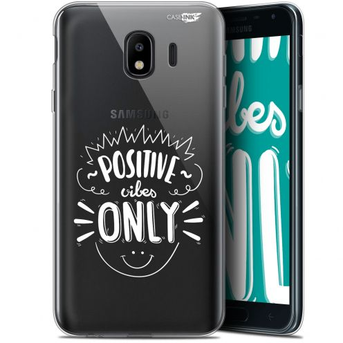 "Carcasa Gel Extra Fina Samsung Galaxy J4 2018 J400 (5.7"") Design Positive Vibes Only"