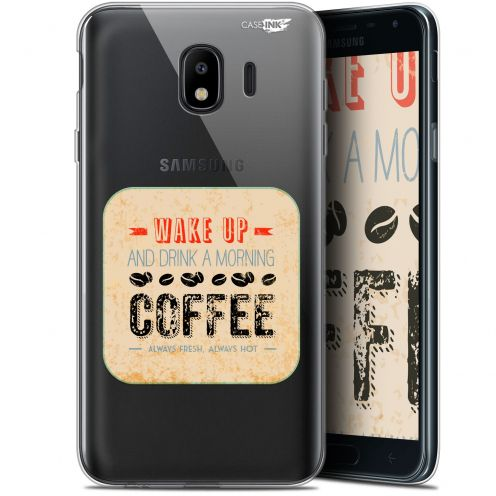 "Carcasa Gel Extra Fina Samsung Galaxy J4 2018 J400 (5.7"") Design Wake Up With Coffee"