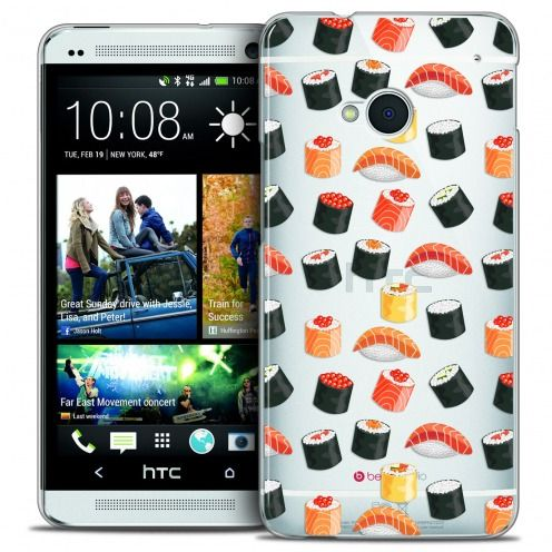 Carcasa Crystal Extra Fina HTC One (M7) Foodie Sushi