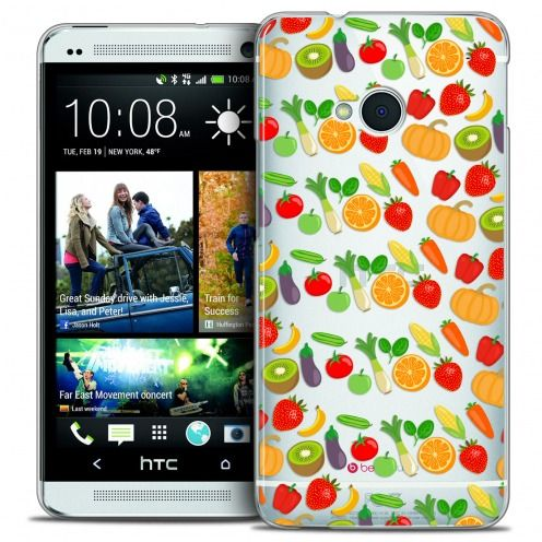 Carcasa Crystal Extra Fina HTC One (M7) Foodie Healthy