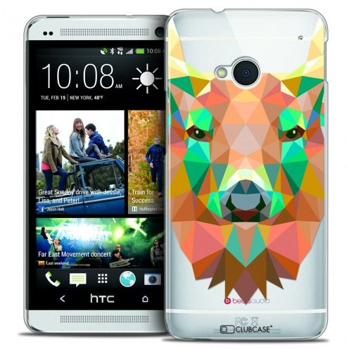 Carcasa Crystal Extra Fina HTC One (M7) Polygon Animals Ciervo