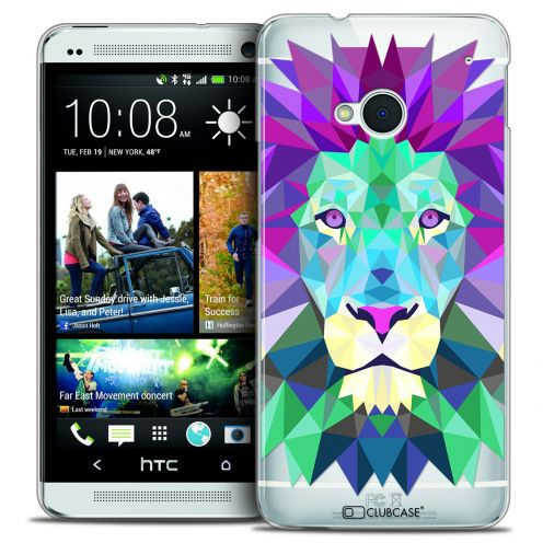 Carcasa Crystal Extra Fina HTC One (M7) Polygon Animals León