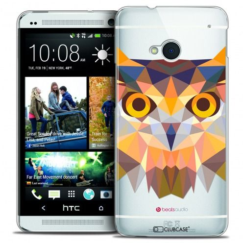 Carcasa Crystal Extra Fina HTC One (M7) Polygon Animals Búho