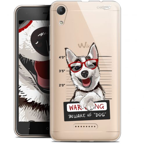 "Carcasa Gel Extra Fina Wiko Lenny 4 (5"") Design Beware The Husky Dog"