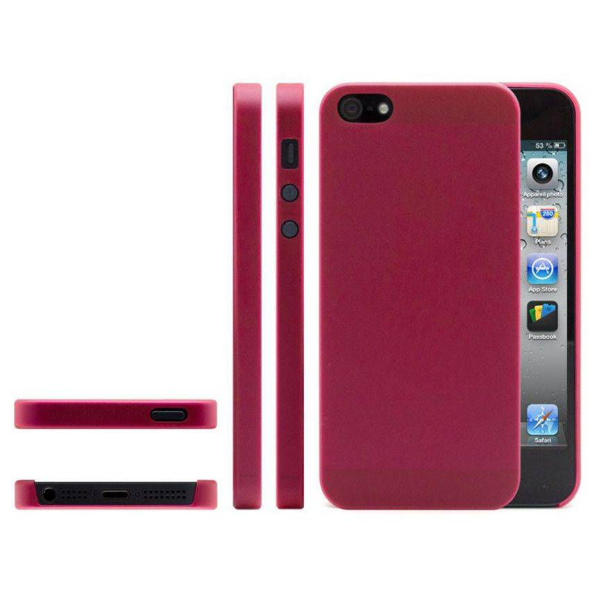 Shell Ultra fino 0.3mm Frost iPhone 5 rojo