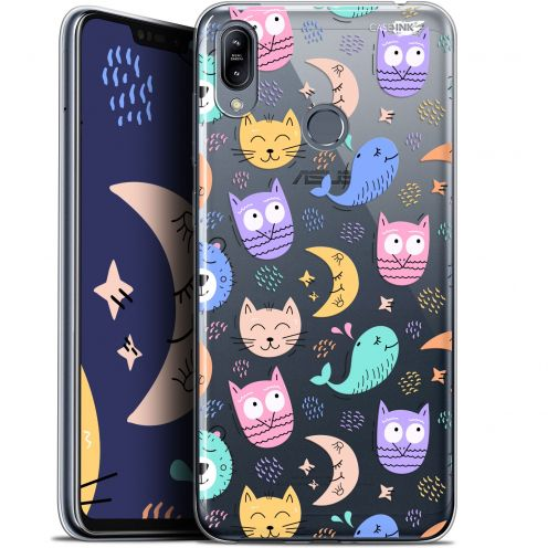 "Carcasa Gel Extra Fina Asus Zenfone Max (M2) ZB633KL (6.3"") Design Chat Hibou"