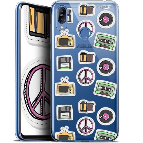 "Carcasa Gel Extra Fina Asus Zenfone Max (M2) ZB633KL (6.3"") Design Vintage Stickers"