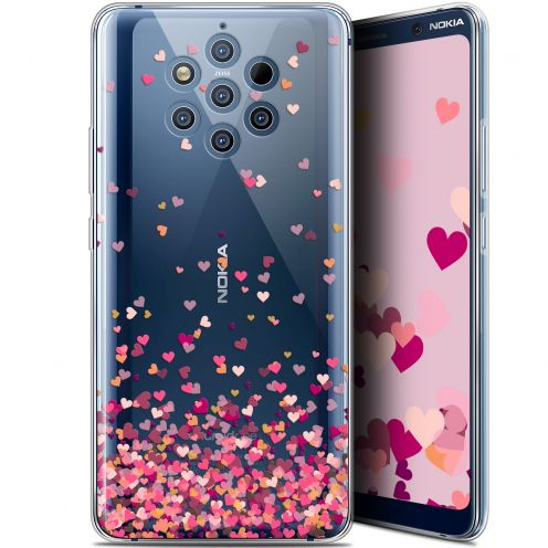 """Carcasa Gel Extra Fina Nokia 9 PureView (6"""") Sweetie Heart Flakes"""