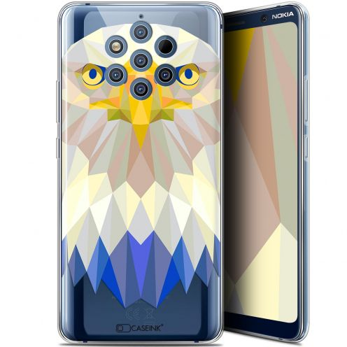 "Carcasa Gel Extra Fina Nokia 9 PureView (6"") Polygon Animals Águila"