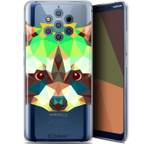 "Carcasa Gel Extra Fina Nokia 9 PureView (6"") Polygon Animals Raton Laveur"