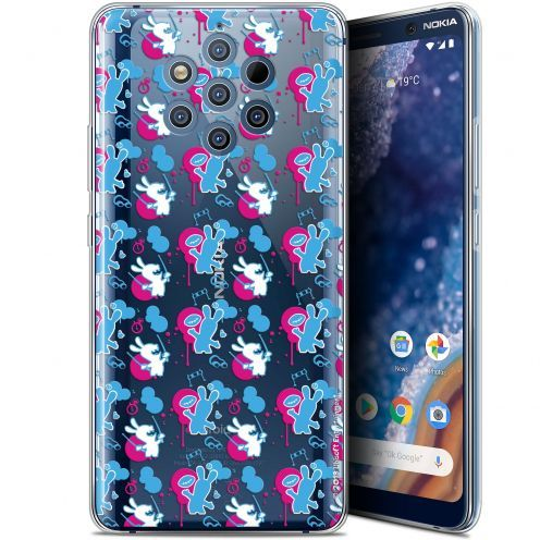 """Carcasa Gel Nokia 9 PureView (6"""") Lapins Crétins™ Rugby Pattern"""