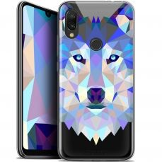 "Carcasa Gel Extra Fina Xiaomi Redmi 7 (6.26"") Polygon Animals Lobo"