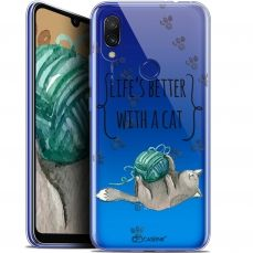 "Carcasa Gel Extra Fina Xiaomi Redmi 7 (6.26"") Quote Life's Better With a Cat"