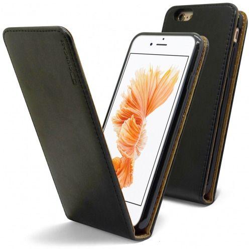 Funda Italia Flippara Apple iPhone 6 / 6s Cuero AuténticoNegro