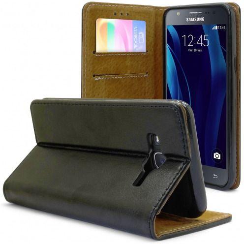Funda Italia Foliopara Samsung Galaxy J5 Cuero AuténticoNegro
