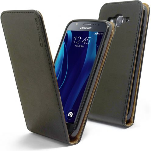 Funda Italia Flippara Samsung Galaxy J5 J500 Cuero AuténticoNegro