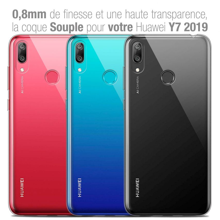 """Carcasa Extra Fina 1 mm Flexible Crystal Clear para Huawei Y7 / Prime / Pro 2019 (6.26"""")"""
