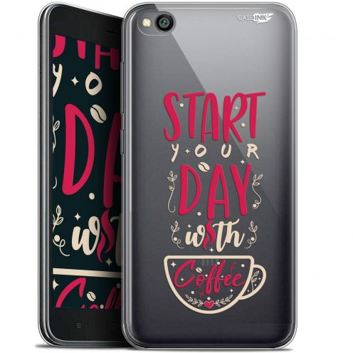 "Carcasa Gel Extra Fina Xiaomi Redmi Go (5"") Design Start With Coffee"