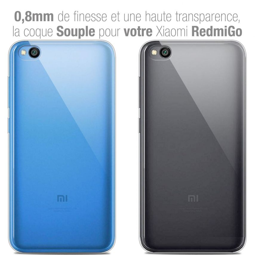 "Carcasa Extra Fina 1 mm Flexible Crystal Clear para Xiaomi Redmi Go (5"")"