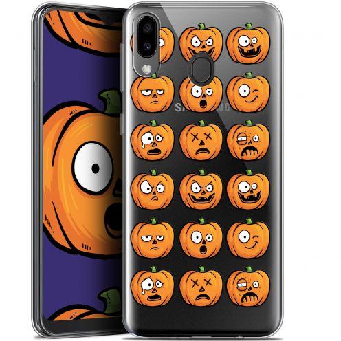 "Carcasa Gel Extra Fina Samsung Galaxy M20 (6.3"") Halloween Cartoon Citrouille"