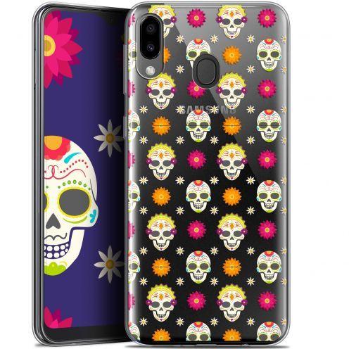 """Carcasa Gel Extra Fina Samsung Galaxy M20 (6.3"""") Halloween Skull Halloween"""