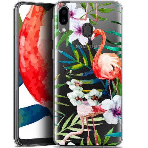 "Carcasa Gel Extra Fina Samsung Galaxy M20 (6.3"") Watercolor Tropical Flamingo"