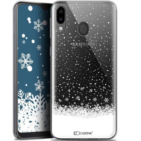 "Carcasa Gel Extra Fina Samsung Galaxy M20 (6.3"") Noël 2017 Flocons de Neige"