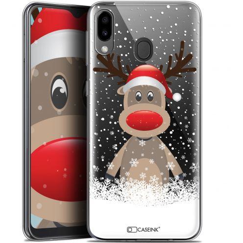 """Carcasa Gel Extra Fina Samsung Galaxy M20 (6.3"""") Noël 2017 Cerf au Bonnet"""