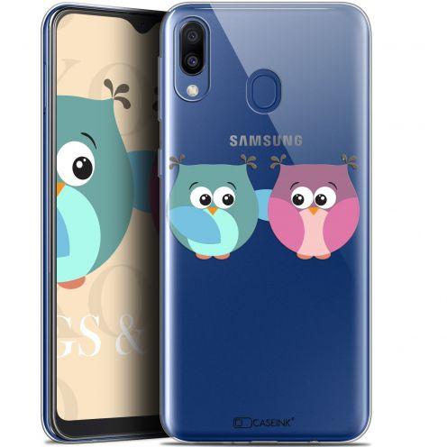 "Carcasa Gel Extra Fina Samsung Galaxy M20 (6.3"") Love Hibous à deux"