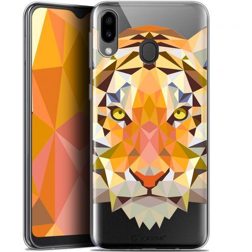 "Carcasa Gel Extra Fina Samsung Galaxy M20 (6.3"") Polygon Animals Tigre"