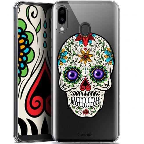 "Carcasa Gel Extra Fina Samsung Galaxy M20 (6.3"") Skull Maria's Flower"