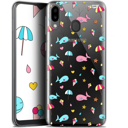 "Carcasa Gel Extra Fina Samsung Galaxy M20 (6.3"") Design Baleine à la Plage"
