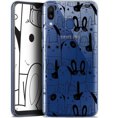 "Carcasa Gel Extra Fina Samsung Galaxy M20 (6.3"") Design Lapin Noir"