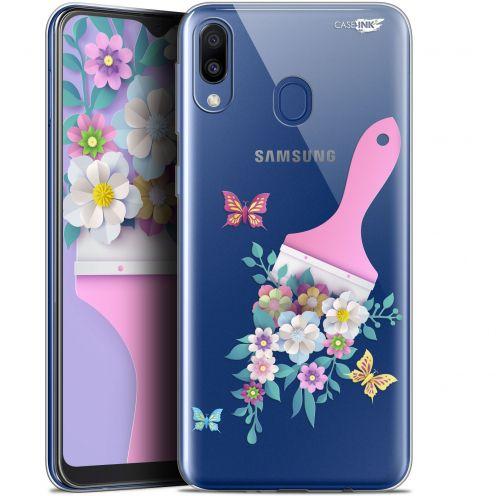 "Carcasa Gel Extra Fina Samsung Galaxy M20 (6.3"") Design Pinceau à Fleurs"