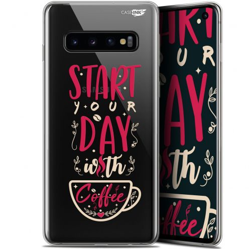 "Carcasa Gel Extra Fina Samsung Galaxy S10 (6.1"") Design Start With Coffee"