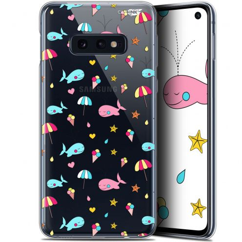 "Carcasa Gel Extra Fina Samsung Galaxy S10e (5.8"") Design Baleine à la Plage"