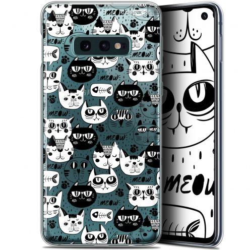 "Carcasa Gel Extra Fina Samsung Galaxy S10e (5.8"") Design Chat Noir Chat Blanc"