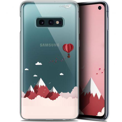 "Carcasa Gel Extra Fina Samsung Galaxy S10e (5.8"") Design Montagne En Montgolfière"