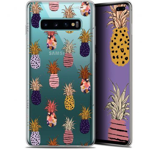 "Carcasa Gel Extra Fina Samsung Galaxy S10+ (6.4"") Design Ananas Gold"
