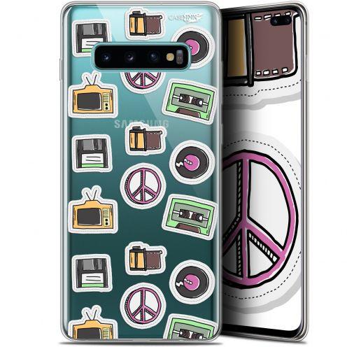 "Carcasa Gel Extra Fina Samsung Galaxy S10+ (6.4"") Design Vintage Stickers"