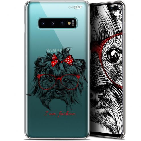 "Carcasa Gel Extra Fina Samsung Galaxy S10+ (6.4"") Design Fashion Dog"
