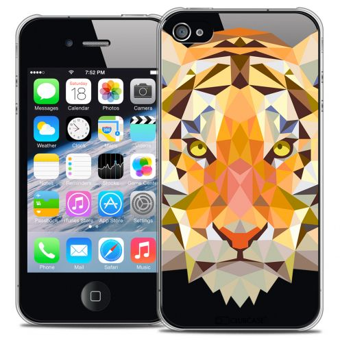 Carcasa Crystal Extra Fina iPhone 4/4S Polygon Animals Tigre