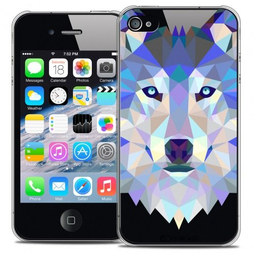 Carcasa Crystal Extra Fina iPhone 4/4S Polygon Animals Lobo