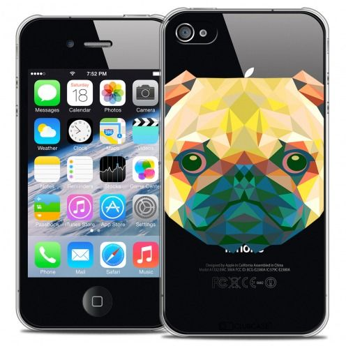 Carcasa Crystal Extra Fina iPhone 4/4S Polygon Animals Perro