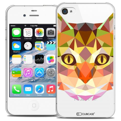 Carcasa Crystal Extra Fina iPhone 4/4S Polygon Animals Gato