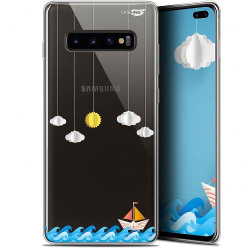 "Carcasa Gel Extra Fina Samsung Galaxy S10+ (6.4"") Design Petit Bateau en Mer"