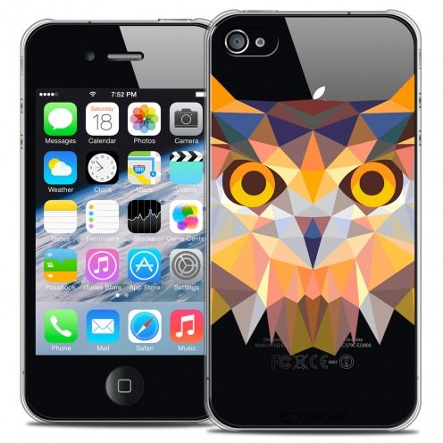 Carcasa Crystal Extra Fina iPhone 4/4S Polygon Animals Búho
