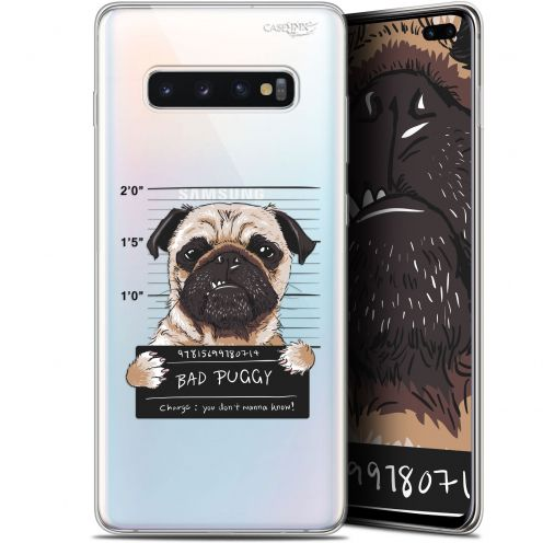 "Carcasa Gel Extra Fina Samsung Galaxy S10+ (6.4"") Design Beware The Puggy Dog"