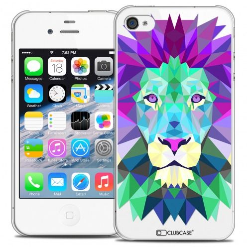 Carcasa Crystal Extra Fina iPhone 4/4S Polygon Animals León